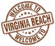 benvenuto al bollo di Virginia Beach Royalty Illustrazione gratis
