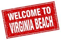 benvenuto al bollo di Virginia Beach Illustrazione Vettoriale