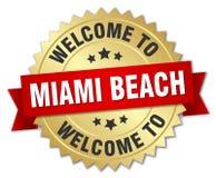benvenuto al distintivo di Miami Beach Illustrazione di Stock