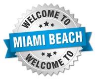 benvenuto al distintivo di Miami Beach Royalty Illustrazione gratis