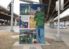Benvenuto al Ellum profondo Art Park, Ellum profondo, Dallas, il Texas Fotografie Stock Libere da Diritti