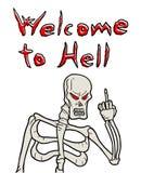 Benvenuto al messaggio dell'inferno Fotografia Stock