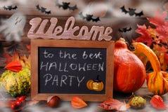 Benvenuto al migliore partito di Halloween Fotografia Stock Libera da Diritti
