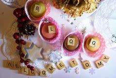 benvenuto al mio blog Immagine Stock