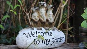 Benvenuto al mio giardino Fotografie Stock Libere da Diritti