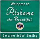 Benvenuto al \ \ regolatore dell'Alabama w Fotografia Stock Libera da Diritti