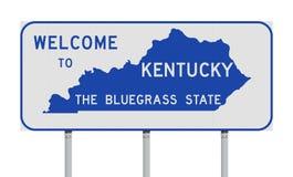 Benvenuto al segnale stradale del Kentucky illustrazione vettoriale