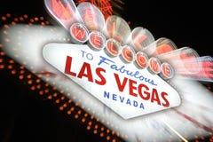 Benvenuto al segno al neon di Las Vegas, Nevada, S.U.A. Fotografia Stock