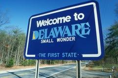 Benvenuto al segno del Delaware Fotografie Stock