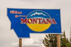 Benvenuto al segno del Montana Immagine Stock