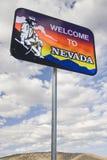 Benvenuto al segno del Nevada immagini stock libere da diritti