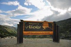 Benvenuto al segno dell'Alaska Immagine Stock Libera da Diritti