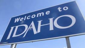 Benvenuto al segno dell'Idaho, pentola video d archivio