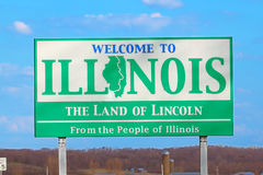 Benvenuto al segno dell'Illinois Immagine Stock Libera da Diritti