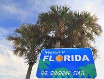 Benvenuto al segno della Florida Immagini Stock Libere da Diritti