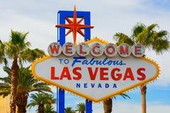 Benvenuto al segno di Las Vegas Fotografie Stock Libere da Diritti