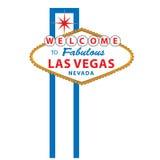 Benvenuto al segno di Las Vegas Fotografia Stock Libera da Diritti