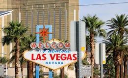 Benvenuto al segno di Las Vegas Immagini Stock