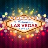 Benvenuto al segno di Las Vegas Immagini Stock Libere da Diritti