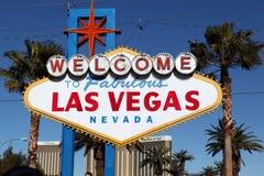 Benvenuto al segno favoloso di Las Vegas Fotografie Stock Libere da Diritti