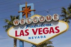 Benvenuto al segno favoloso di Las Vegas Fotografia Stock