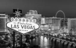 Benvenuto al segno favoloso di Las Vegas Fotografia Stock Libera da Diritti