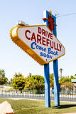 Benvenuto al segno favoloso di Las Vegas, Las Vegas, Nevada, U.S.A. Fotografia Stock Libera da Diritti