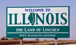 Benvenuto all'Illinois Fotografie Stock