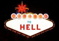 Benvenuto all'inferno fotografia stock