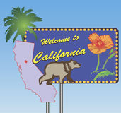 Benvenuto alla California Fotografia Stock