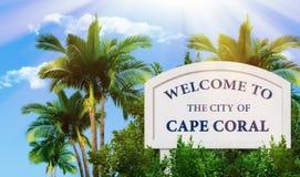 Benvenuto alla città del corallo del capo Immagini Stock Libere da Diritti