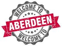 Benvenuto alla guarnizione di Aberdeen Immagini Stock