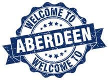 Benvenuto alla guarnizione di Aberdeen Fotografie Stock