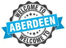 Benvenuto alla guarnizione di Aberdeen Fotografie Stock Libere da Diritti
