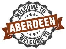 Benvenuto alla guarnizione di Aberdeen Immagini Stock Libere da Diritti