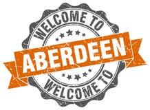 Benvenuto alla guarnizione di Aberdeen Fotografia Stock Libera da Diritti