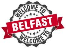 Benvenuto alla guarnizione di Belfast Immagine Stock Libera da Diritti