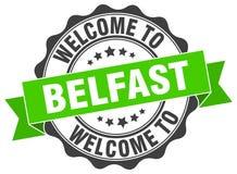 Benvenuto alla guarnizione di Belfast Immagini Stock