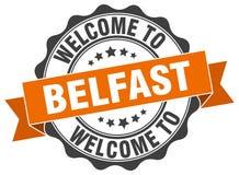 Benvenuto alla guarnizione di Belfast Immagini Stock Libere da Diritti