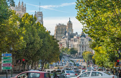 Benvenuto alla metropoli nella città di Madrid Fotografia Stock