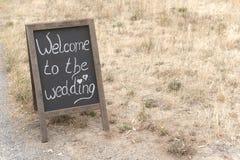 Benvenuto alle nozze Immagine Stock