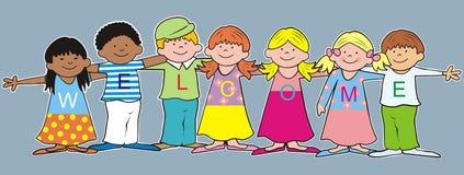 Benvenuto-bambini royalty illustrazione gratis