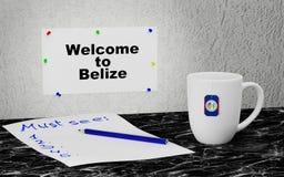 Benvenuto a Belize Fotografia Stock