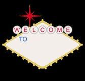 Benvenuto in bianco al segno di Las Vegas Fotografia Stock