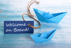 Benvenuto a bordo Immagine Stock