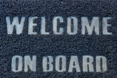 Benvenuto a bordo Fotografia Stock