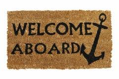Benvenuto a bordo della stuoia Fotografia Stock