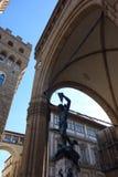Benvenuto Cellini ` s Perseus met het Hoofd van Kwal stock fotografie