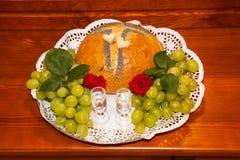 Benvenuto con pane e sale fotografie stock libere da diritti