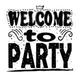 Benvenuto da fare festa   immagine stock